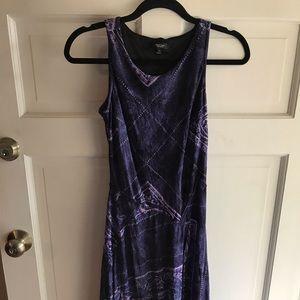 Vera Wang Purple Patterned Dress